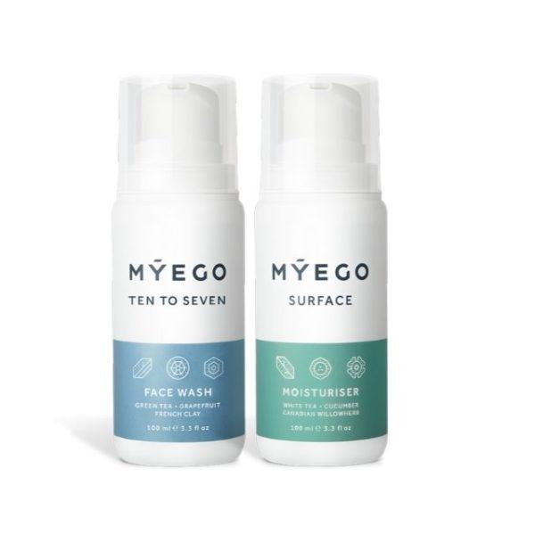 Zestaw kosmetyków dla mężczyzn- Mýego-Krem-nawilżająco-matujący-Surface-Moisturiser-Żel-do-mycia-twarzy-Ten-To-Seven